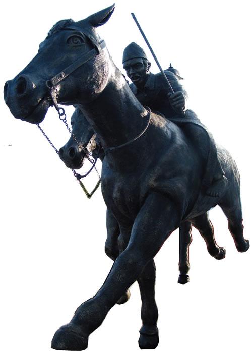 El Conjunto Escultórica de Los Caballos que Corrieron en San Benito