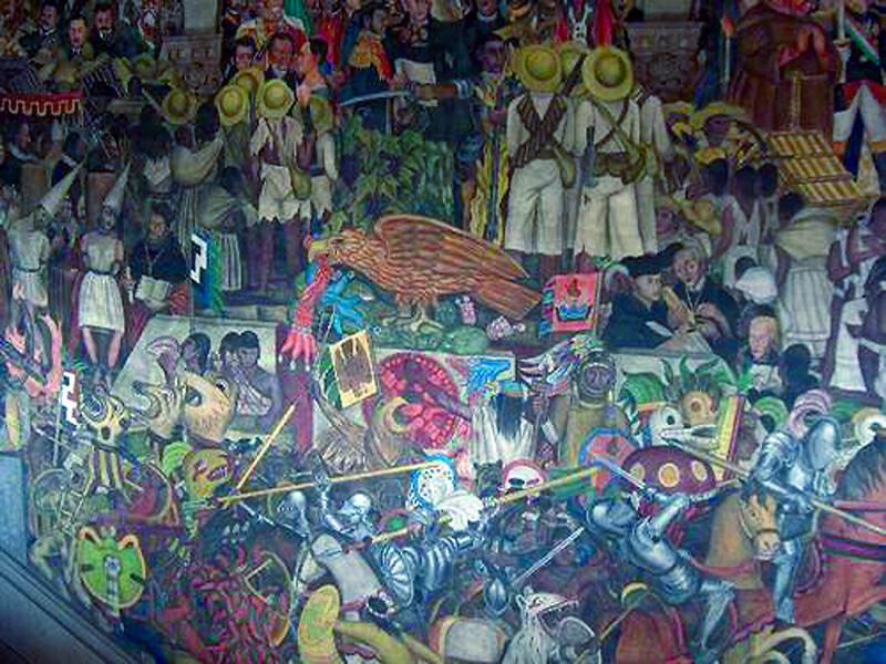 México mural multicolor
