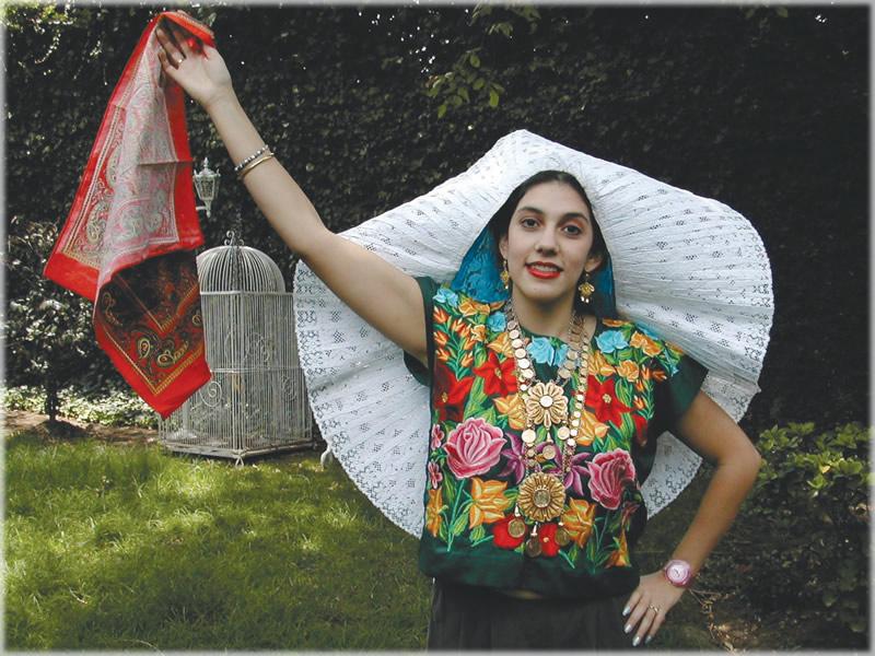 Tehuana… Mujer de encaje, de seda y sol