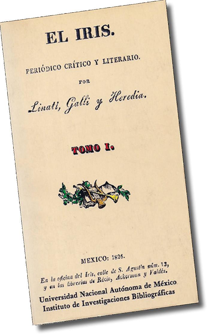 El Iris, periódico crítico literario, primera revista literaria mexicana