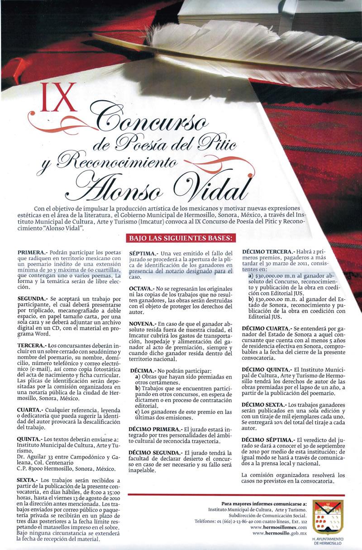 Breve recorrido sobre el tiempo de un poeta, Alonso Vidal