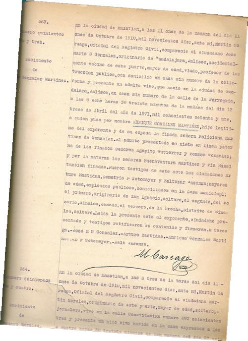 Los apuros de Don José María G. González en Mazatlán