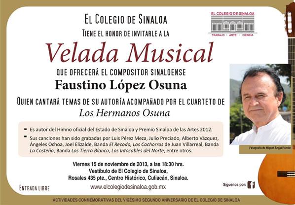 FAUSTINO LÓPEZ OSUNA Ofreció Recital en Culiacán