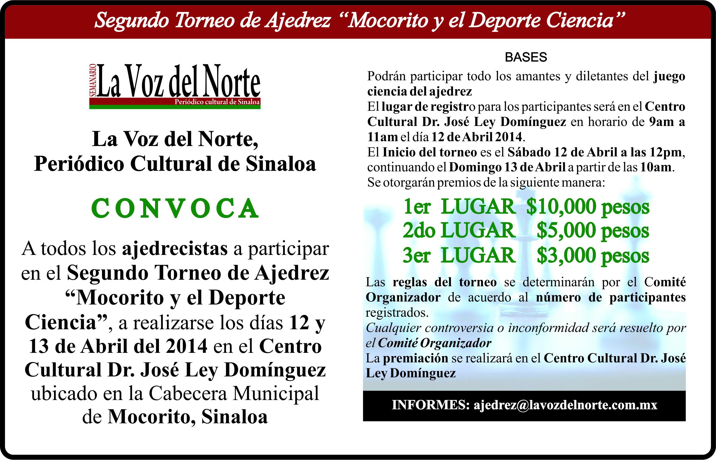Segundo Torneo de Ajedrez «Mocorito y el Deporte Ciencia»