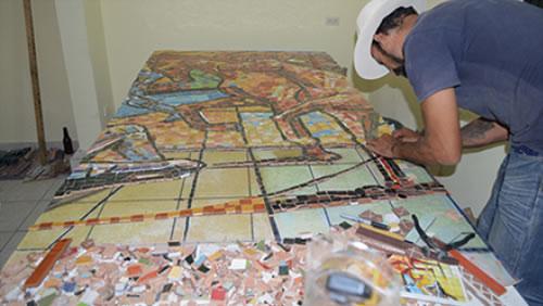 Mural «Mocorito, Ateneo Sinaloense» Lugar donde se concentra y se difunde la cultura