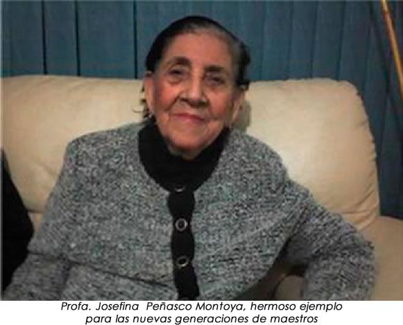 Josefina peñasco Montoya; 55 años al servicio educativo