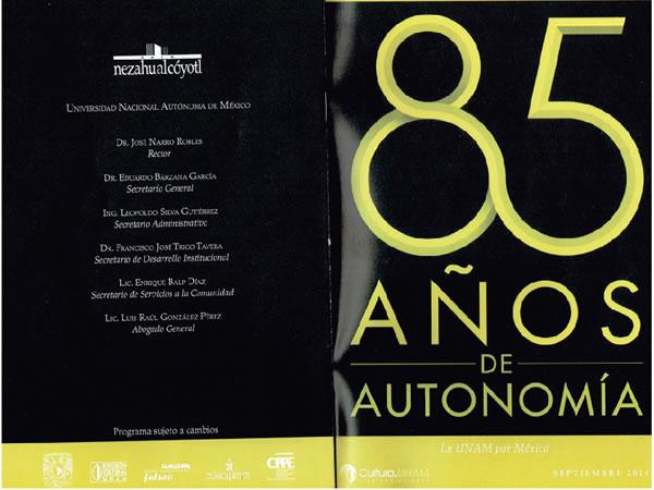 Ochenta y cinco años de autonomía con música