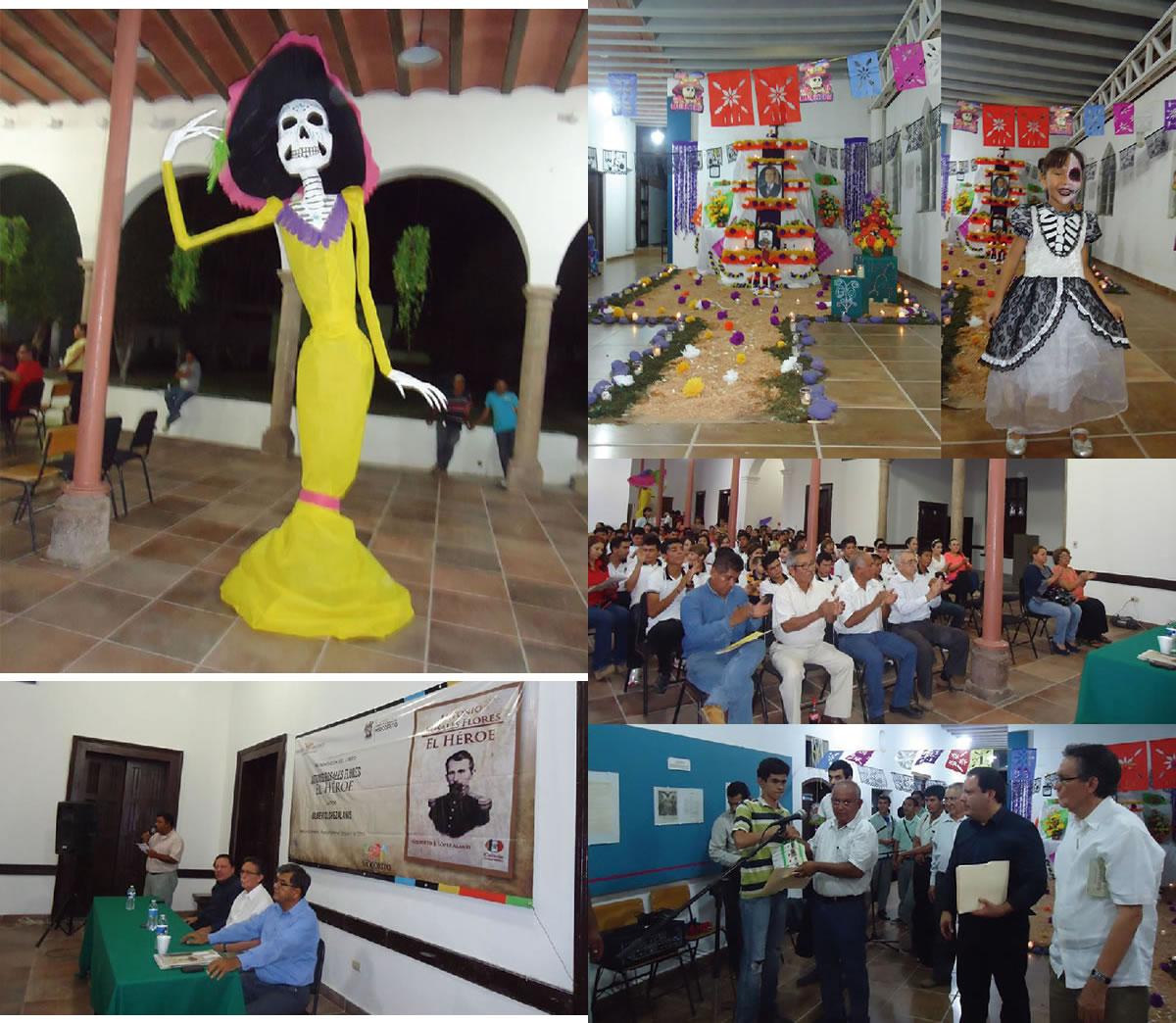 """Pericos de fiesta cultural en el centro de desarrollo cultural """"casa peiro"""" y museo de historia de Pericos"""