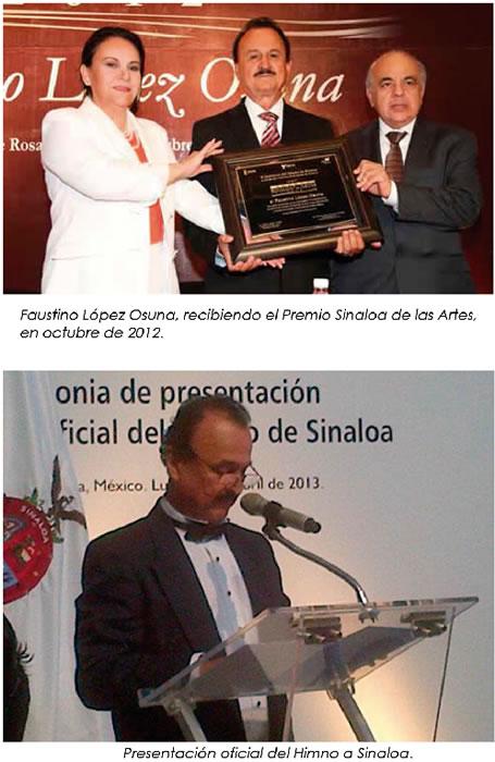El Himno Oficial del Estado de Sinaloa, Obra de Faustino López Osuna