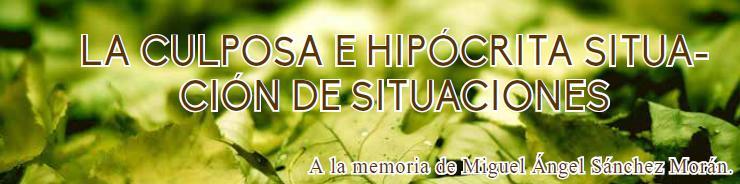 LA CULPOSA E HIPÓCRITA SITUACIÓN DE SITUACIONES