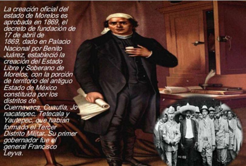 ABRIL DE 1869, A CIENTO CINCUENTA AÑOS DE LA FUNDACIÓN DEL ESTADO DE MORELOS