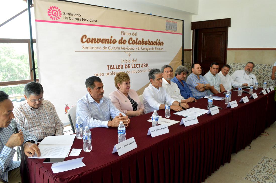 FIRMAN CONVENIO SEMINARIO DE CULTURA MEXICANA Y EL COLEGIO DE SINALOA