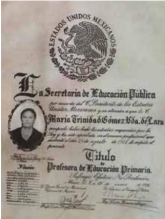 LA PROFESORA TRINI GÓMEZ, PIEZA DE UNA GENERACIÓN DE EDUCADORES MOCORITENSES