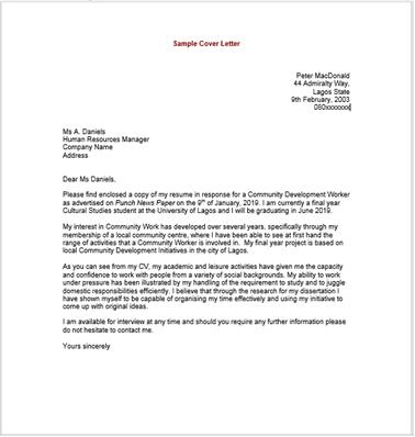 Application Letter Already Written